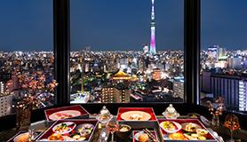 さくら×おこもりステイ×21階以上確約】極上夜景を眺めながら、フレンチをお部屋食で